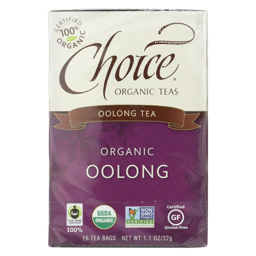 Choice Organic Teas Oolong Tea - 16 Tea Bags - Case Of 6