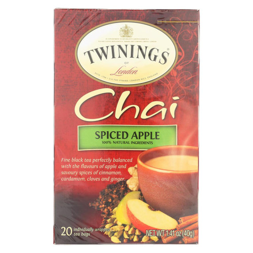 Twining's Tea Chai - Apple Spiced - Case Of 6 - 20 Bags