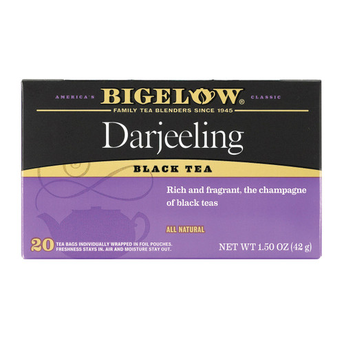 Bigelow Tea Darjeeling Black Tea - Case Of 6 - 20 Bags