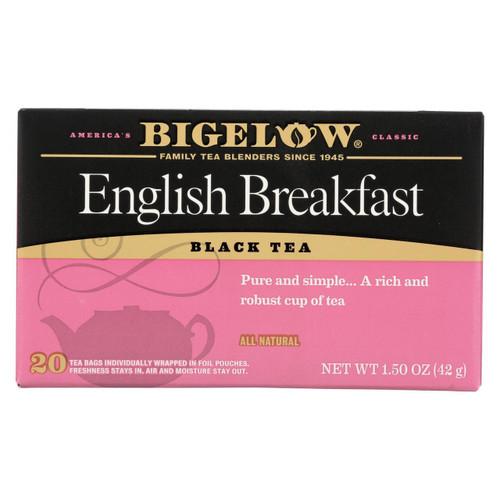 Bigelow Tea English Breakfast Black Tea - Case Of 6 - 20 Bags
