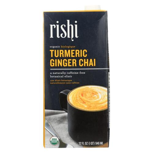 Rishi - Tea Concentrate - Turmeric Ginger Chai - Case Of 12 - 32 Fl Oz.