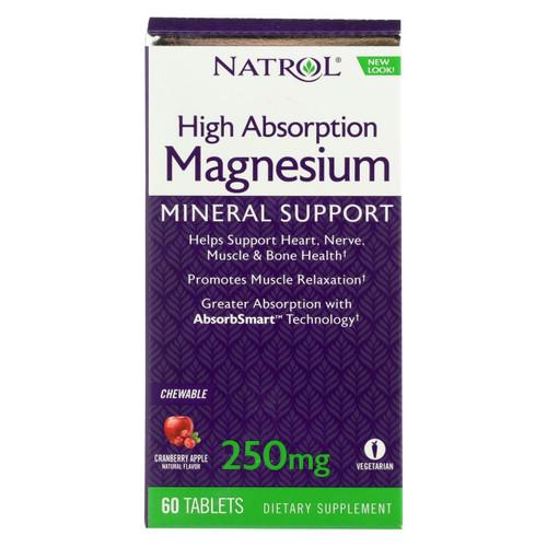 Natrol Magnesium - High Absorption - 60 Tablets