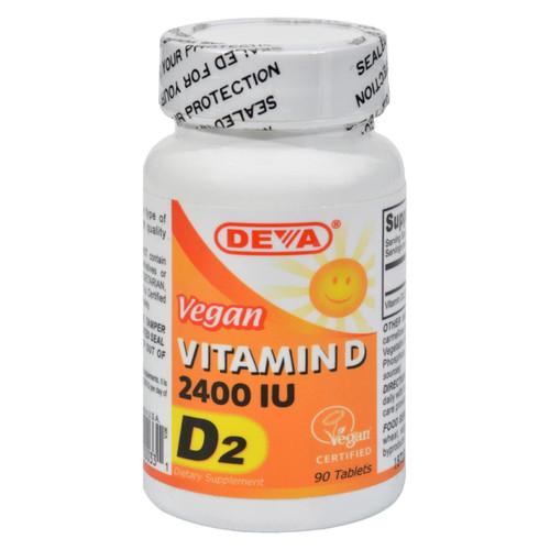 Deva Vegan Vitamins - Vitamin D - 2400 Iu - 90 Tablets