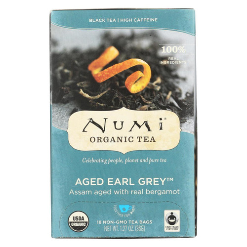 Numi Tea Organic Aged Earl Grey - Black Tea - 18 Bags