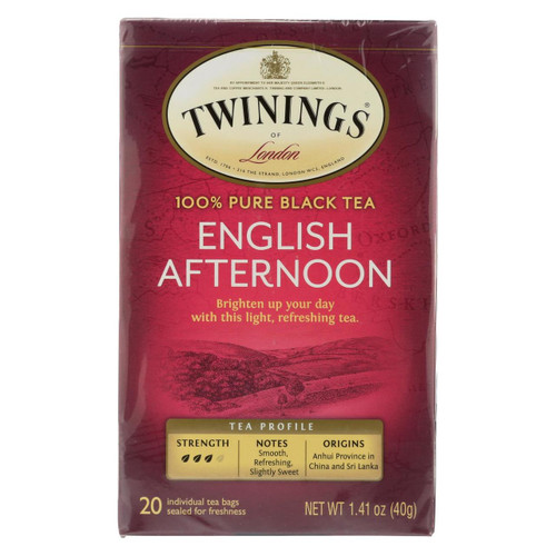 Twining's Tea Black Tea - English Afternoon - Case Of 6 - 20 Bags