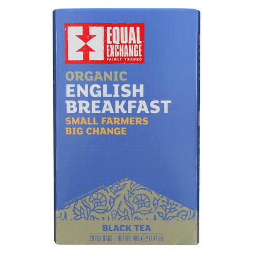 Equal Exchange Organic English Breakfast Tea - English Breakfast Tea - Case Of 6 - 20 Bags