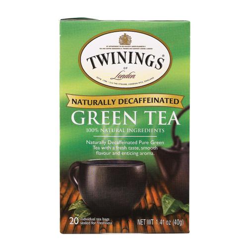 Twining's Tea Green Tea - Decaffeinated - Case Of 6 - 20 Bags