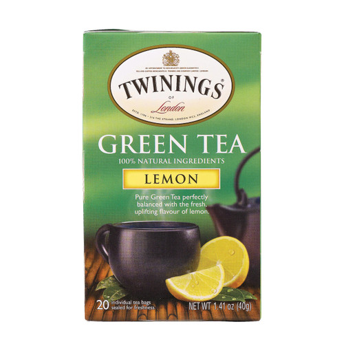 Twining's Tea Green Tea - Lemon - Case Of 6 - 20 Bags