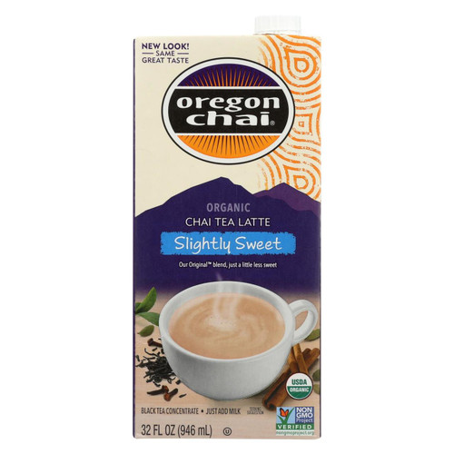 Oregon Chai Original Chai Tea Latte Concentrate - Slightly Sweet - Case Of 6 - 32 Fl Oz.