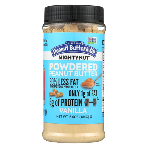 Peanut Butter And Co Mighty Nut Powdered - Vanilla - Case Of 6 - 6.5 Oz.