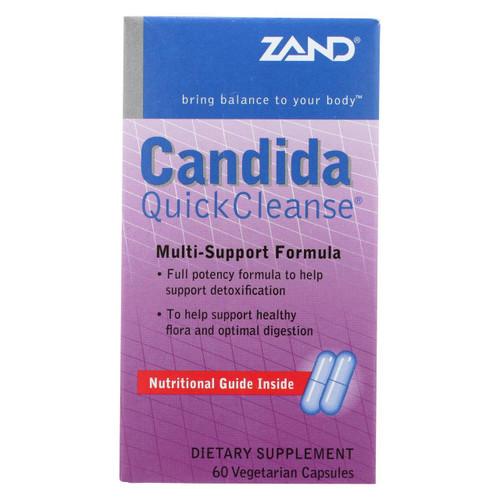 Zand Candida Quick Cleanse Multi-support Formula - 60 Vegetarian Capsules
