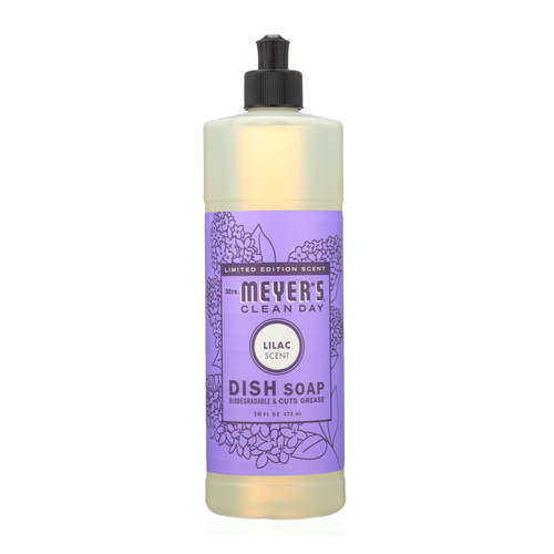 Mrs. Meyer's Clean Day - Liquid Dish Soap - Lilac - Case Of 6 - 16 Fl Oz