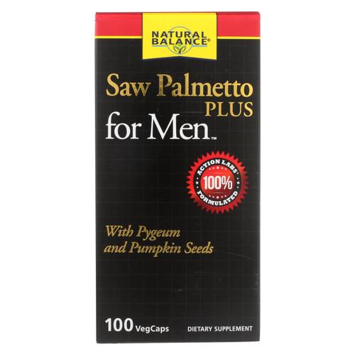 Natural Balance - Saw Palmetto Plus - For Men - 100 Vegetarian Capsules