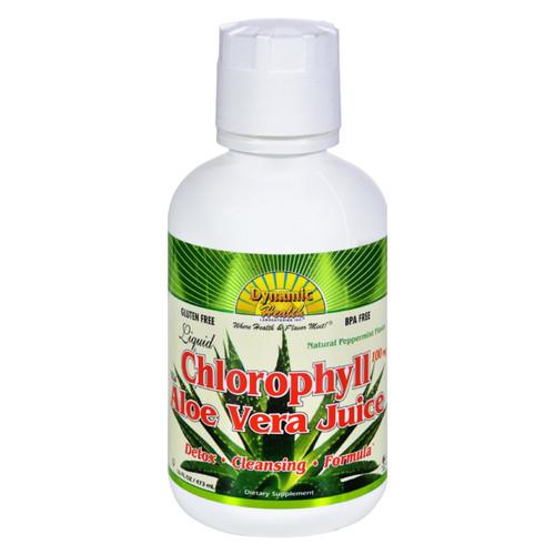Dynamic Health Liquid Chlorophyll With Aloe Vera Juice Spearmint - 16 Fl Oz