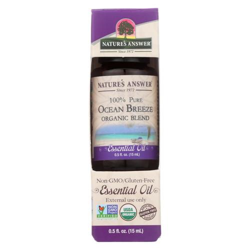 Nature's Answer - Organic Essential Oil Blend - Ocean Breeze - 0.5 Oz.