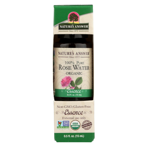 Nature's Answer - Organic Essential Oil - Rosewater - 0.5 Oz.