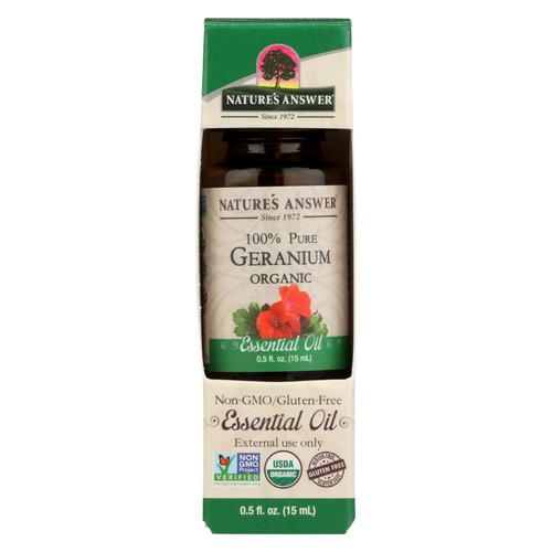 Nature's Answer - Organic Essential Oil - Geranium - 0.5 Oz.