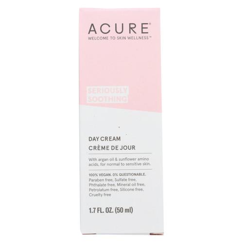 Acure - Sensitive Facial Cream - Argan Oil And Sunflower Amino Acids - 1.75 Fl Oz.