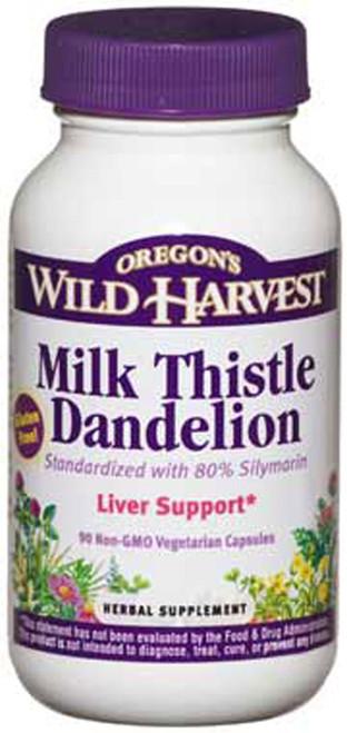 Milk Thistle + Dandelion by Oregon's Wild Harvest 90 capsules
