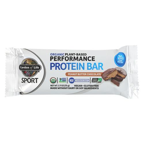 Garden Of Life - Sport Protein Bar - Peanut Butter Chocolate - Case Of 12 - 2.7 Oz