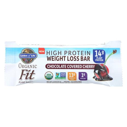Garden Of Life - Fit High Protein Bar Dark Chocolate Cherry - Case Of 12 - 1.9 Oz