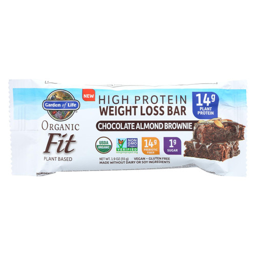 Garden Of Life - Fit High Protein Bar Chocolate Almond Brownie - Case Of 12 - 1.9 Oz