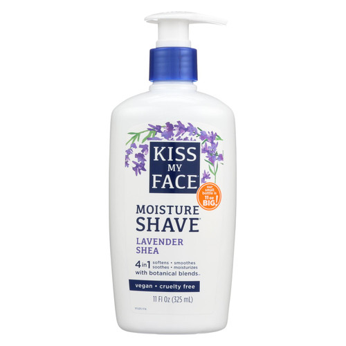 Kiss My Face Moisture Shave Lavender Shea - 11 Fl Oz