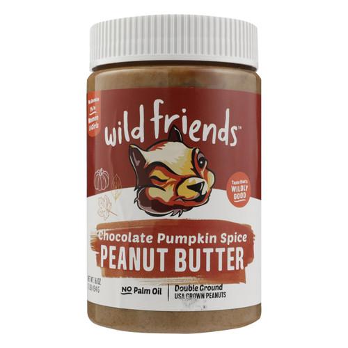 Wild Friends Peanut Butter - Pumpkin Spice - Case Of 6 - 16 Oz.