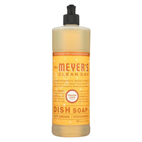 Mrs. Meyer's Clean Day - Liquid Dish Soap - Orange Clove - Case Of 6 - 16 Fl Oz.