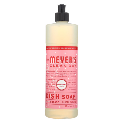 Mrs. Meyer's Clean Day - Liquid Dish Soap - Peppermint - Case Of 6 - 16 Fl Oz.