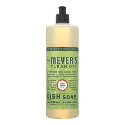 Mrs. Meyer's Clean Day - Liquid Dish Soap - Iowa Pine - Case Of 6 - 16 Fl Oz.
