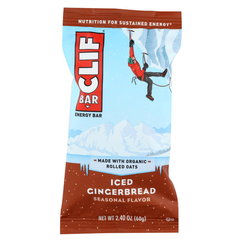 Clif Bar - Energy Bar - Iced Gingerbread - Case Of 12 - 2.4 Oz.