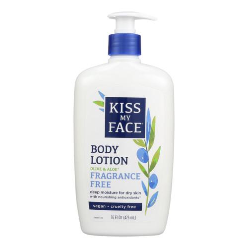 Kiss My Face Ultra Moisturizer Olive And Aloe Fragrance Free - 16 Fl Oz