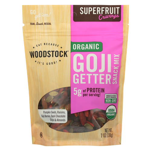 Woodstock - Organic Snack Mix - Goji Getter - Case Of 8 - 7 Oz.