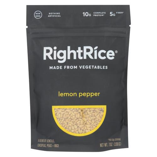 Right Rice - Made From Vegetables - Lemon Pepper - Case Of 6 - 7 Oz.