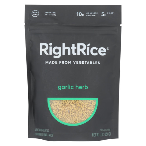 Right Rice - Made From Vegetables - Garlic Herb - Case Of 6 - 7 Oz.