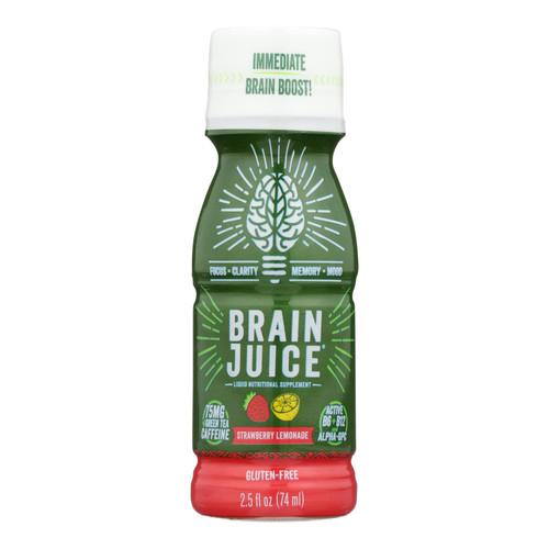 Brain Juice - Brain Juice Strawberry Lemonade - Case Of 12 - 2.5 Fl Oz