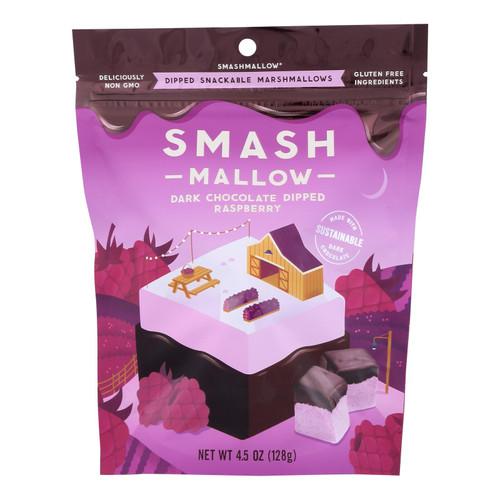 Smashmallow - Marshmallow Snack Dark Chocolate Raspberry - Case Of 10-4.5 Oz