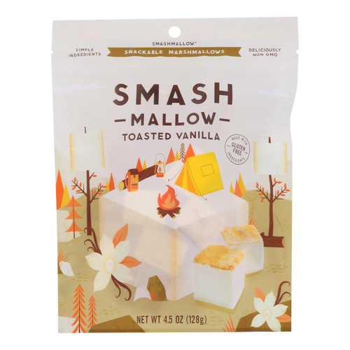 Smashmallow - Marshmallow Snack Toasted Vanilla - Case Of 12-4.5 Oz