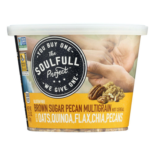 The Soulfull Project Hot Cereal Brown Sugar Pecan  - Case Of 6 - 2.15 Oz