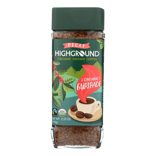 Highground - Coffee Decaf Instant - Case Of 6 - 3.53 Oz