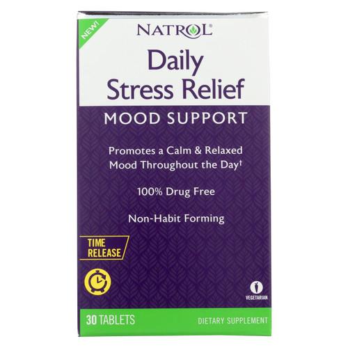 Natrol - Daily Stress Mood Support - 1 Each - 30 Tab