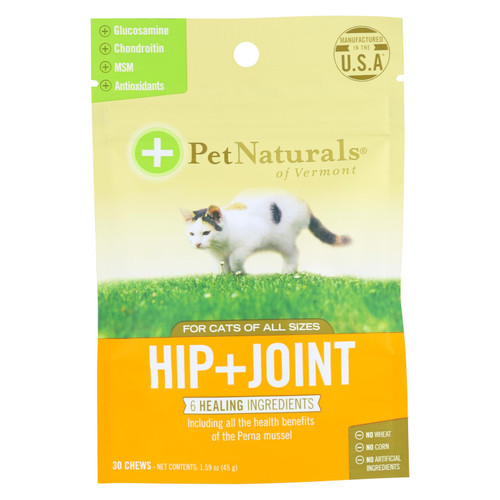 Pet Naturals Of Vermont Hip + Joint Supplement For Cats Of All Sizes  - 1 Each - 30 Ct