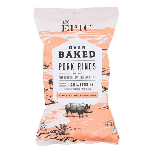 Epic Oven Baked Pork Rinds  - Case Of 12 - 2.5 Oz