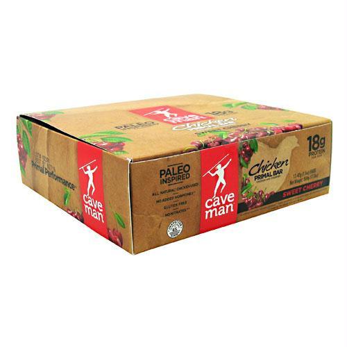 Caveman Foods Chicken Primal Bar Sweet Cherry - Gluten Free