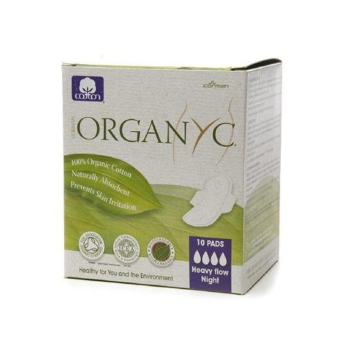 Organyc - Pads Night Ctn Fold W/wng - 1 Each - 10 Ct