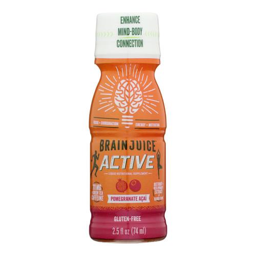 Brain Juice - Pre Wkt Sht Pom Acai Actv - Case Of 12 - 2.5 Oz