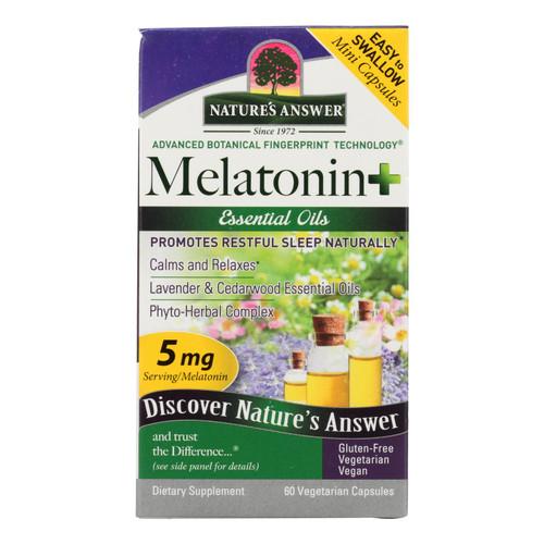 Nature's Answer Melatonin+ Dietary Supplement  - 1 Each - 60 Vcap
