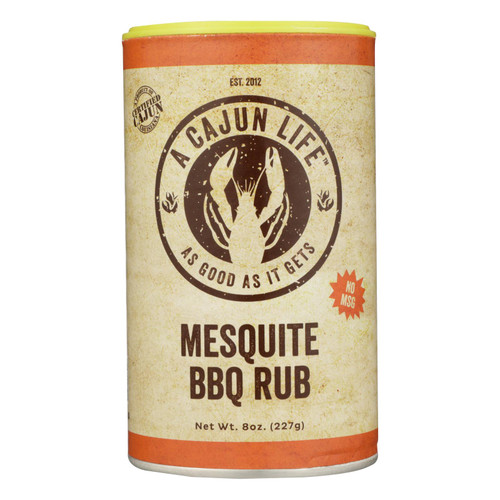 A Cajun Life Mesquite Bbq Seasoning, 8 Oz - Case Of 6 - 8 Oz