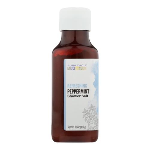 Aura Cacia - Shower Salt Refrsh Pprmnt - 1 Each - 16 Oz